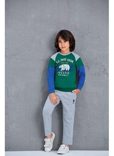 U.S. Polo Assn. Us Polo Assn Lisanslı Erkek Çocuk 2'Li Takım Gri Yeşil